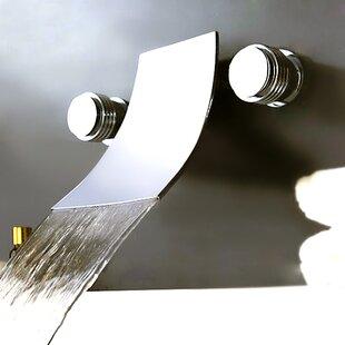 Double Handles Wall Mount Tub Faucet By Kokols