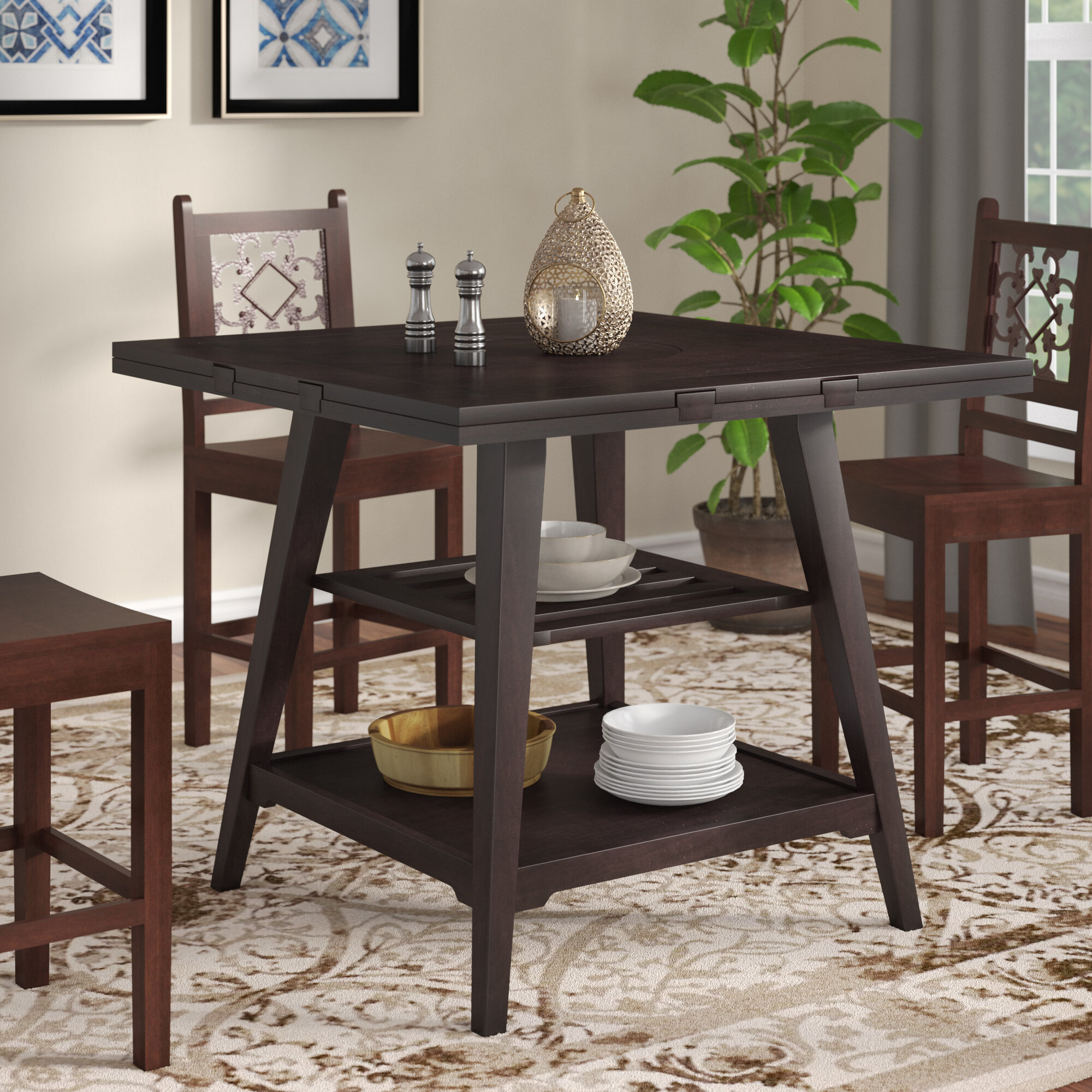 World Menagerie Devereau 60 Round Extendable Dining Table Reviews Wayfair