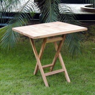 Barrett Folding Teak Side Table By Alpen Home