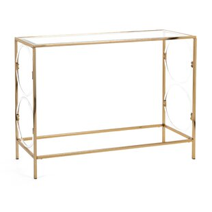 Mona Iron Framed Rectangular Console Table by Mercer41