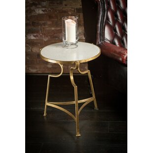Lexie Iron End Table by Rosdorf Park