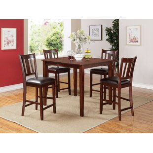 Pontiff 5 Piece Counter Height Dining Set