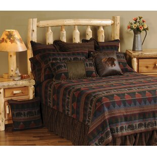 Wooded River Cabin Bear Bedspread
