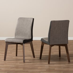Baxton Studio Mona Mid-Century Modern Fabric Side Chair (Set of 2)
