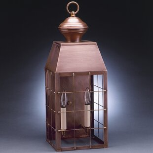 Savings Woodcliffe 2-Light Outdoor Flush Mount By Northeast Lantern