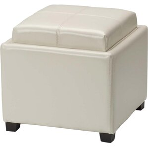 Dogwood StorageTray Leather Ottoman by Alcot..
