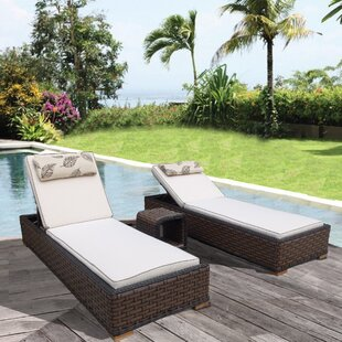 Bayou Breeze Gaia 3 Piece Chaise Lounge with Cushion