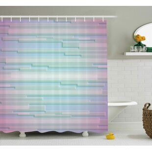 Enrique Minimal Digital Decor Single Shower Curtain