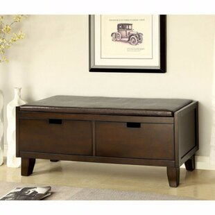 Low priced Allocca Contemporary Style Leather Storage Bench ByRed Barrel Studio