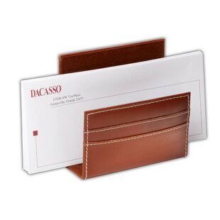 Dacasso 3200 Series Leather Letter Holder in Rustic Brown