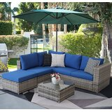Bivona 3 Piece Rattan Sofa Set by Latitude Run®