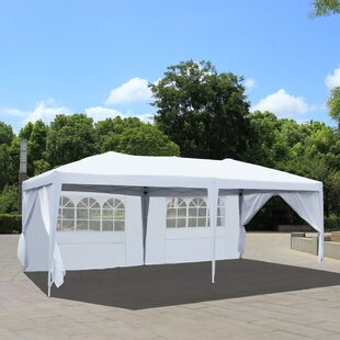 20 Ft. W x 10 Ft. D Metal Pop-Up Canopy by Azure Sky