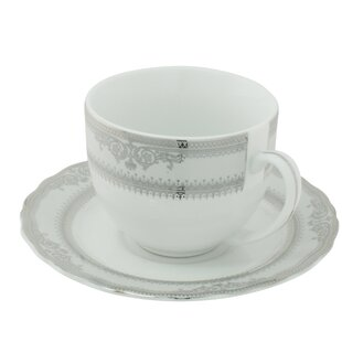 Vanessa Platinum Ballet Cup And Saucer Set Of 6