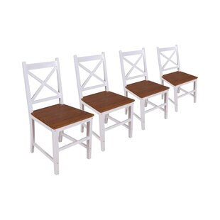 Review Devan Solid Wood Dining Chair (Set Of 4)