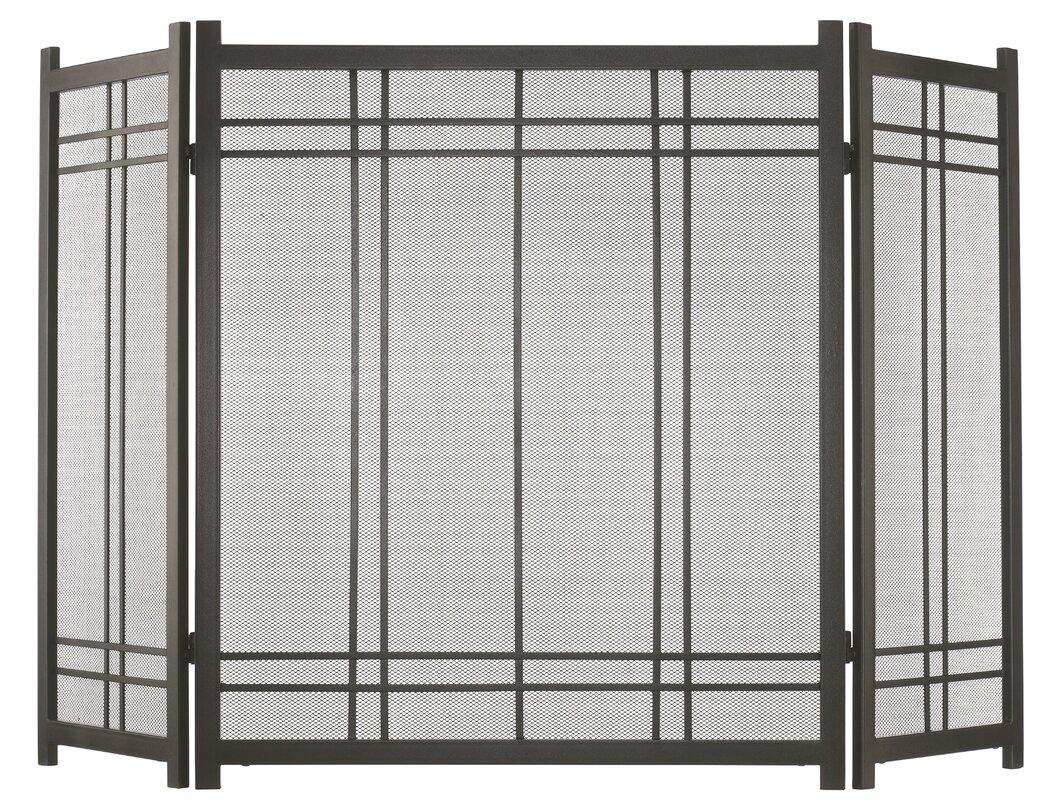 pleasant hearth preston 3 panel steel fireplace screen u0026 reviews