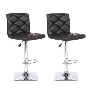 Valarie Adjustable Height Swivel Bar Stool (Set of 2)