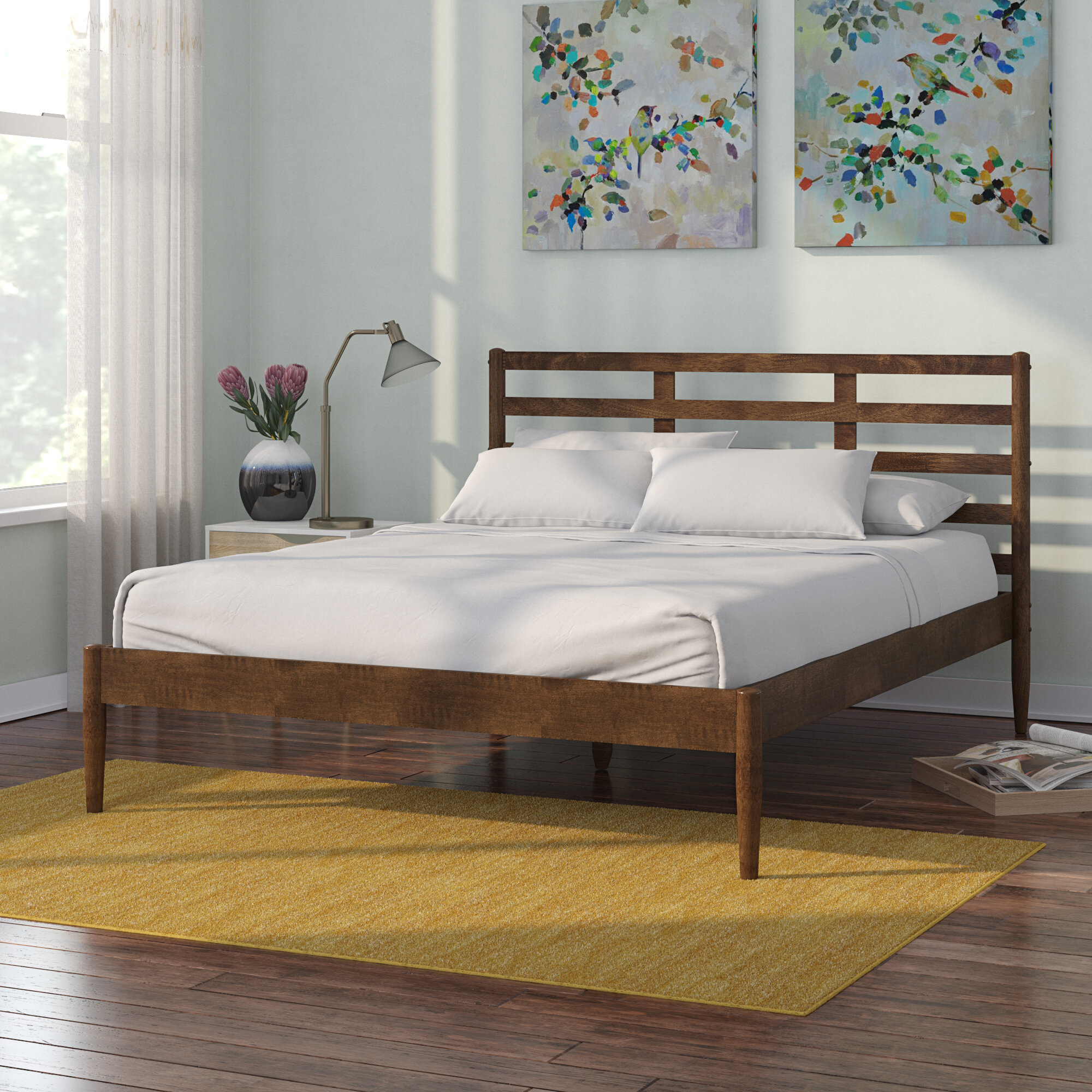 Langley street callum mid century modern platform bed reviews wayfair