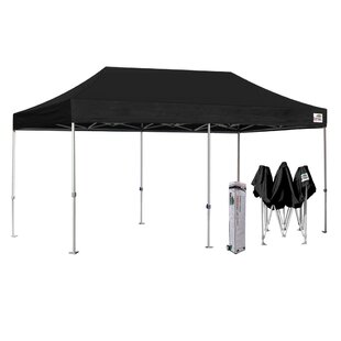 Premium 10 Ft. W x 20 Ft. D Steel Pop-Up Canopy by Eurmax