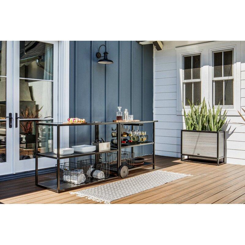 Veradek Outdoor Kitchen Series Free Standing Bar Center Reviews Wayfair