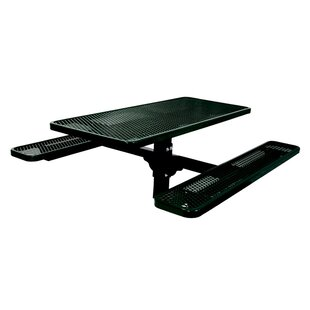 Ultra Play Single Pedestal Inground Picnic Table with Diamond Pattern