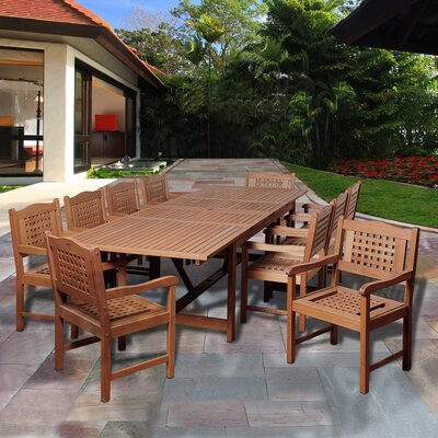Fernwood International Home Outdoor 11 Piece Dining Set by Bayou Breeze Wonderful