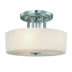 Uptown 3-Light Semi Flush Mount by Dolan Designs