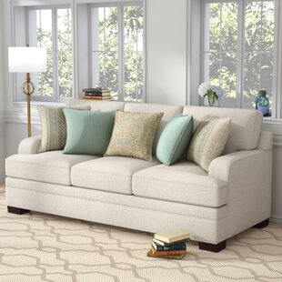 Compare prices Simmons Upholstery Hattiesburg Parchment Sofa by Three Posts Reviews (2019) & Buyer's Guide
