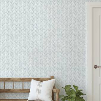 Repositionable Fabric Peel /& Stick WPS Contemporary Weaving Pattern Aspiring Blue Removable Wallpaper
