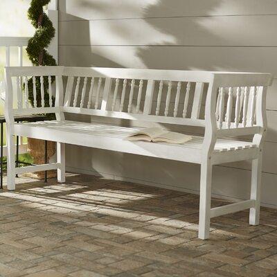 Surprising Rosecliff Heights Millard Wood Bench Color Off White Creativecarmelina Interior Chair Design Creativecarmelinacom