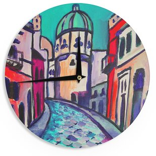 Theresa Giolzetti 'Procida Teal' 12 Wall Clock by East Urban Home