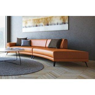 Shandel Italian Leather Modular Sectional by Brayden Studio