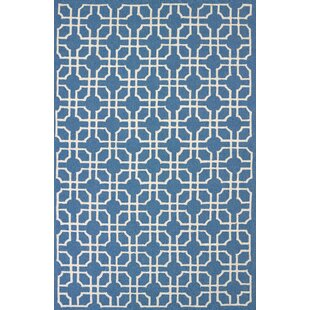 Templeville Atrium Handmade Blue Indoor/Outdoor Area Rug