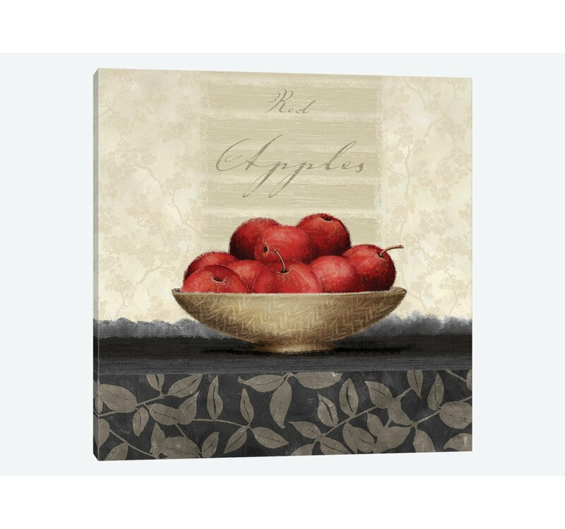 East Urban Home Apples Graphic Art Print On Canvas Wayfair