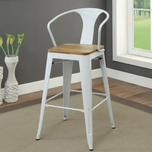 Smithey Modern Metal Frame Bar Stool (Set of 2) Gracie Oaks