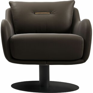 Platt Swivel Lounge Chair by Modloft Black