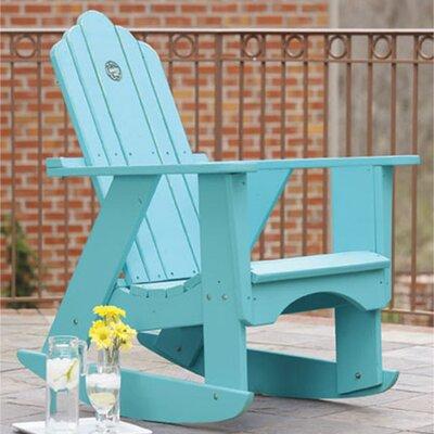 Original Wood Rocking Adirondack Chair Uwharrie Chair Color: Flamingo (Distressed)