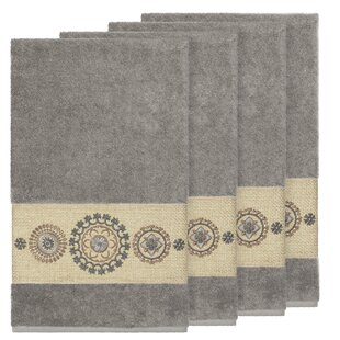 Roeder Embellished Turkish Cotton Bath Towel (Set of 4)