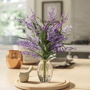 Lavender Plant Floral Arrangement in Decorative Vase