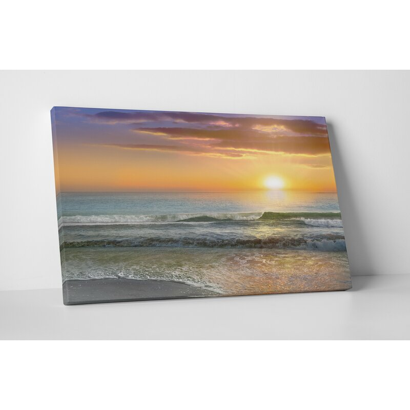 Highland Dunes Dawn Rays Photographic Print On Wrapped Canvas
