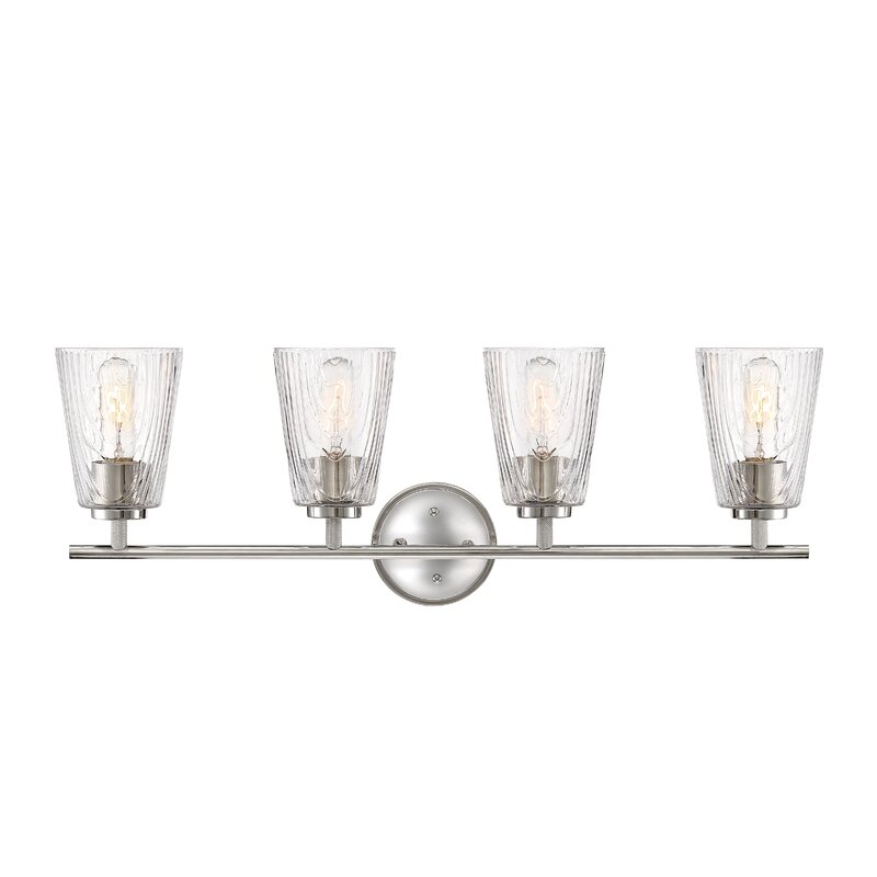 Rosecliff Heights Adelyn 4 Light Dimmable Silver Vanity Light Wayfair