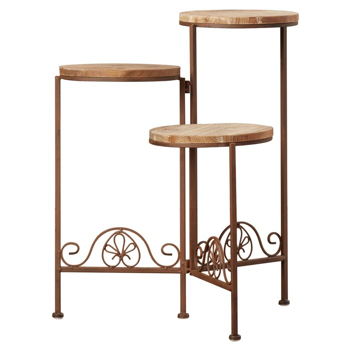 Zingz & Thingz Old World Triple Plant Stand