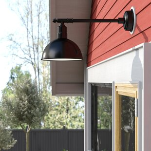 Antoinette LED 1-Light Outdoor Barn Light with Victorian Arm