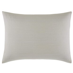 Silk Strie Stitched Linen Lumbar Pillow