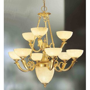 Classic Lighting Valencia 9-Light Shaded Chandelier