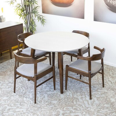 Glynn 5 - Piece Solid Wood Dining Set by George Oliver New Design