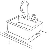 Also Known As A Top Mount Sink, This Style Is Mounted Directly Into An  Opening On The Counter, With Its Edges Resting On It.