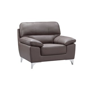 Orren Ellis Charity Leather Air Upholstered Armchair