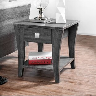 Wrought Studio Mcnaughton End Table with Storage