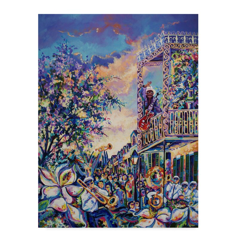 'Mardi Gras' Print on Wrapped Canvas