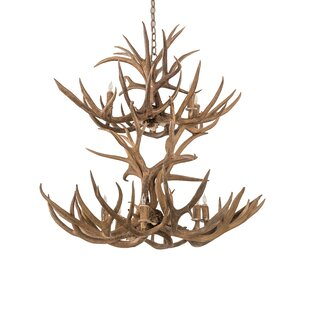 Scruggs Mule Deer 12-Light Novelty Chandelier by Loon Peak